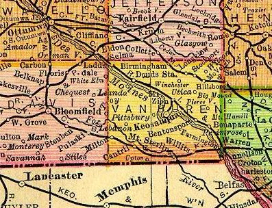 Bentonsport Iowa Map.Iowa Van Buren County Maps